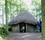 Woodland huts to explore and play in