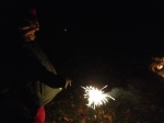 Sparklers on Bonfire Night at The Rolling Downs